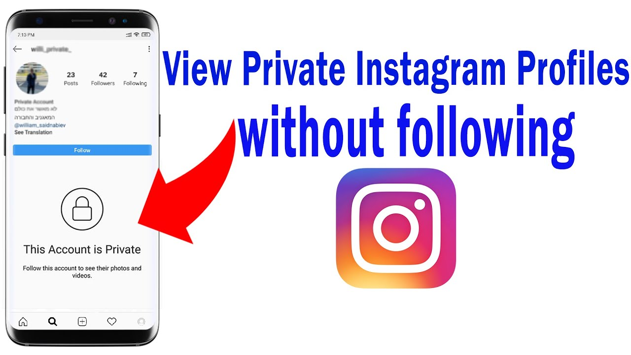 Use to phone to have Instagram profile picture